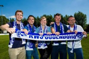 Oudenburg -- supportersclub White Star Oudenburg / Jens, Dwayne, Hanne, Jasper en Stefaan